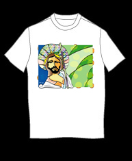 """Jesus Stained Glass"" tshirt"