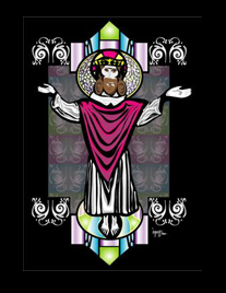 Jesus Stained Glass 2