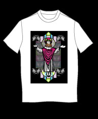 """Jesus Stained Glass 2"" tshirt"