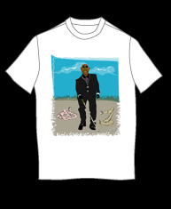 """Blind Man with Snakes"" tshirt"