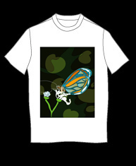 """Butterfly On Flower"" tshirt"