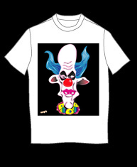 """Evil Clown"" tshirt"