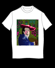 """Girl With the Red Hat"" tshirt"
